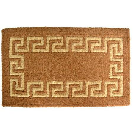 Key Door Mat - Imports Decor Woven Greek Key Doormat
