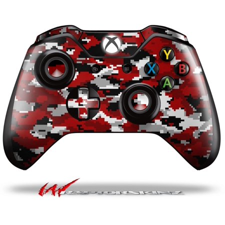 Decal Style Skin for Microsoft XBOX One Wireless Controller WraptorCamo Digital Camo Red - (CONTROLLER NOT INCLUDED)