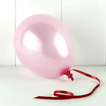 "50 pcs 12"" Metallic Pink Colour Latex balloons birthday party celebrations"