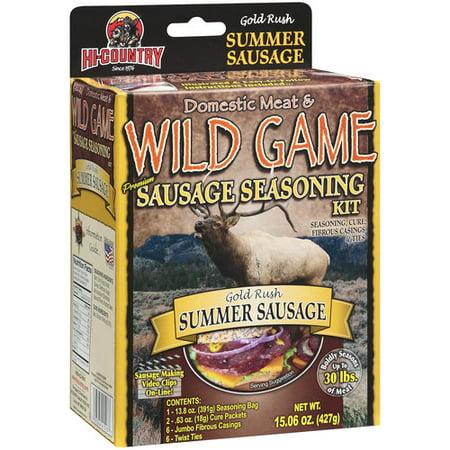 Hi Country Wild Game Seasonings Gold Rush Summer Sausage Premium Sausage  Seasoning & Cure Kit, 15 06 oz