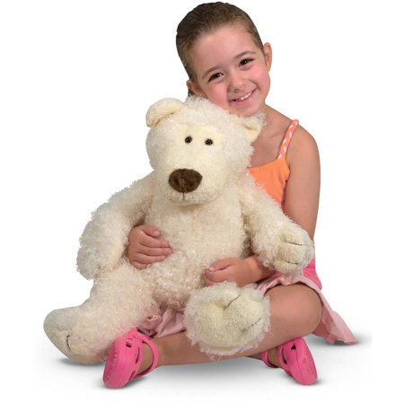 Melissa & Doug Big Roscoe Bear Stuffed Animal - Vanilla