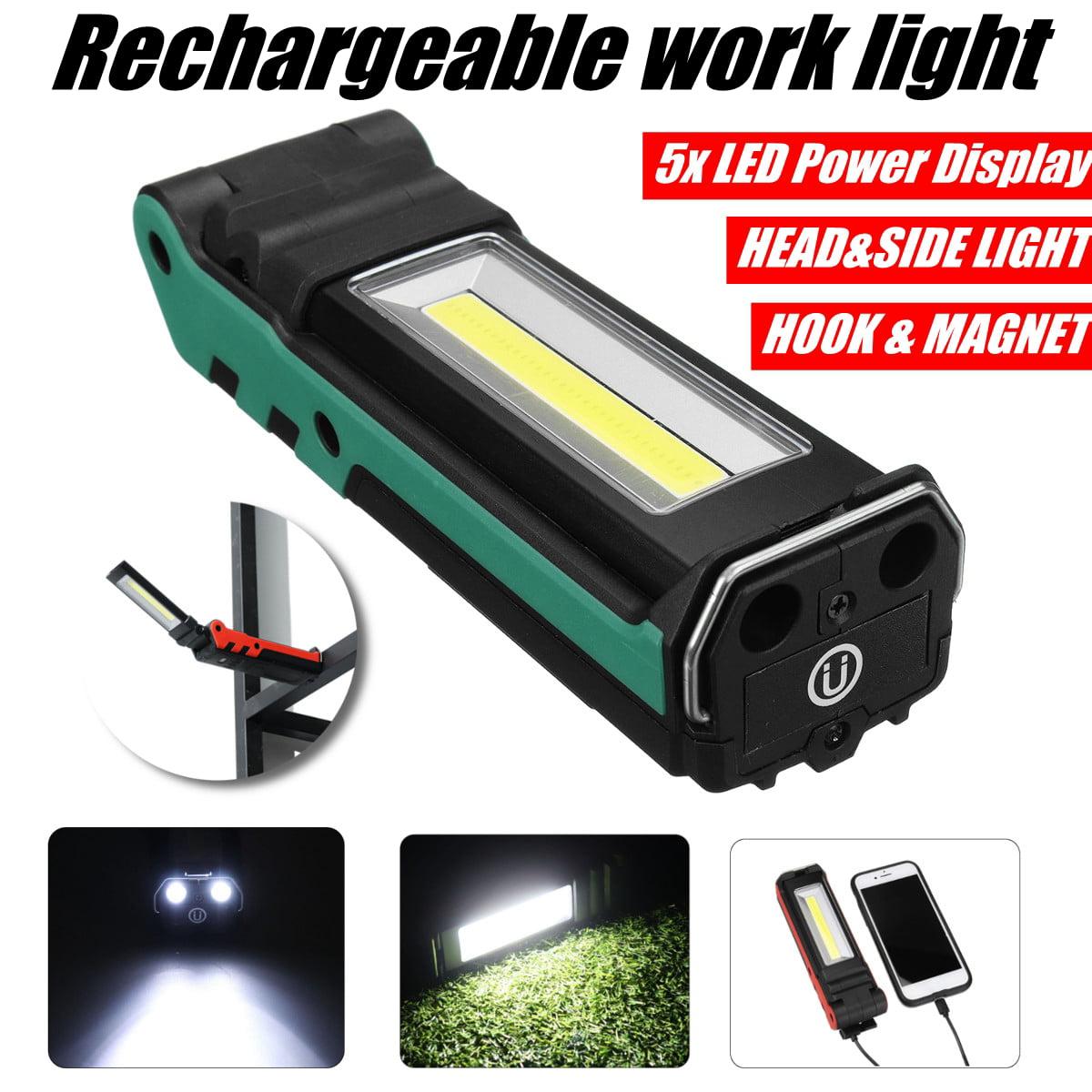 90000LM Rechargeable COB LED Slim Work Light Lamp Flashlight Magnet Torch