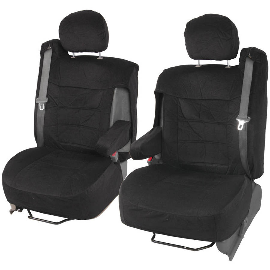 BDK Pickup Truck Seat Covers with Arm Rest and Built In Seat Belt, Encore