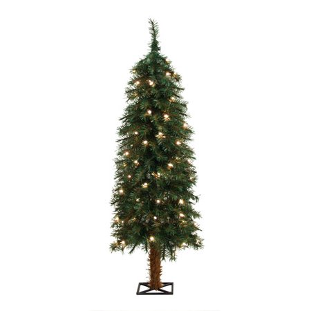 general foam plastics 4 green alpine christmas tree with 70 clear lights