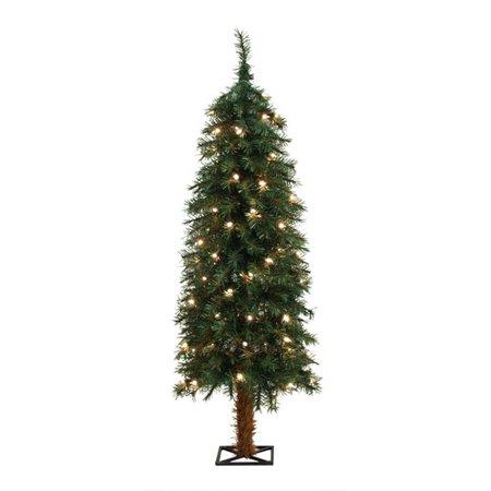 general foam plastics 4 green alpine christmas tree with 70 clear lights - General Foam Plastics Christmas Decorations