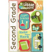 Cardstock Stickers-Second Grade