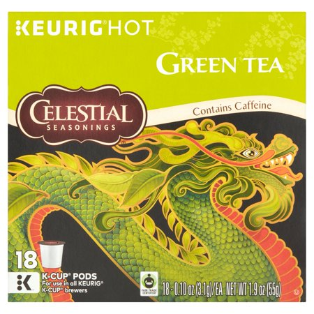 Celestial Seasonings Keurig chaud de thé vert K-Cup pods, 0,10 oz, 18 count