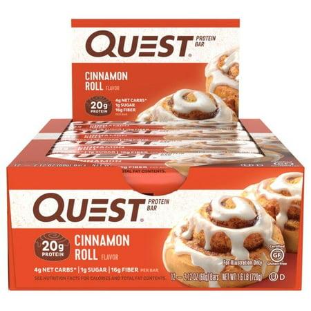 Quest Box (Quest Protein Bar, Cinnamon Roll, 20g Protein, 12)