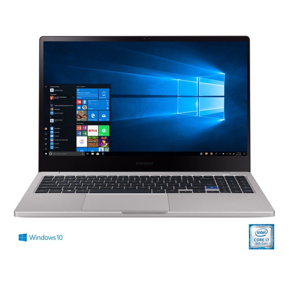 "SAMSUNG Notebook 7, 15.6"" FHD LED, Intel Core i5-8265U, 8GB DDR4, 256GB SSD, Platinum Titan - NP750XBE-K03US"