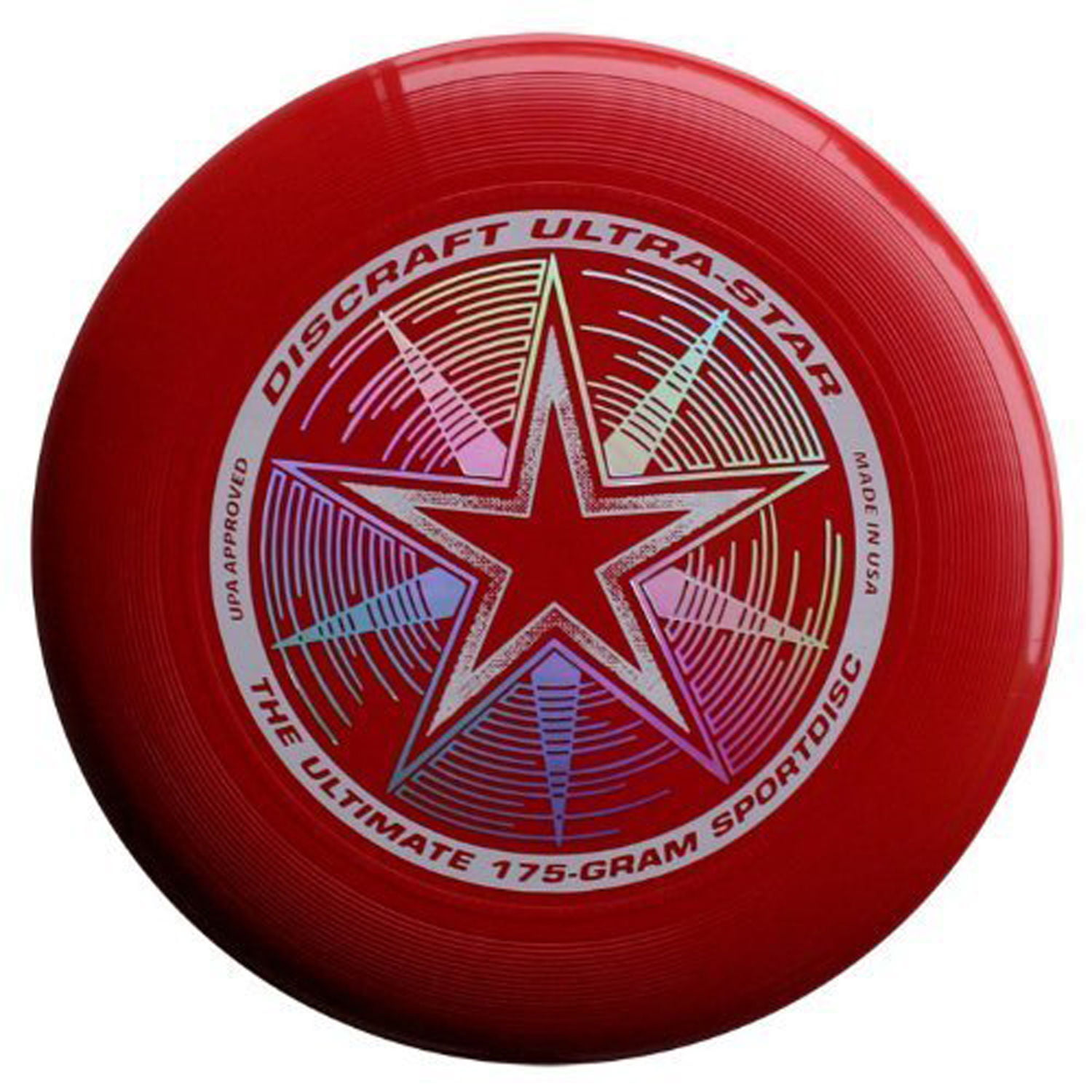 Discraft Ultra Star 175g Ultimate Frisbee Disc Dark Red