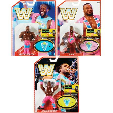 Package Deal - New Day - WWE Retro Series 5 (Big E, Kofi Kingston & Xavier Woods) Toy Wrestling Action