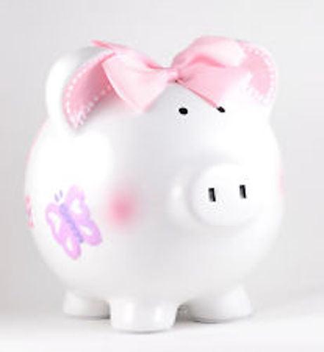 Child To Cherish Large Piggy Bank Butterfly by Child to Cherish
