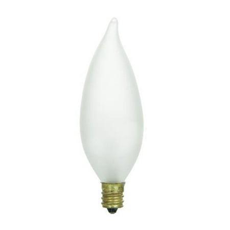 Sunlite 60 watt incandescent candelabra based flame tip chandelier ...