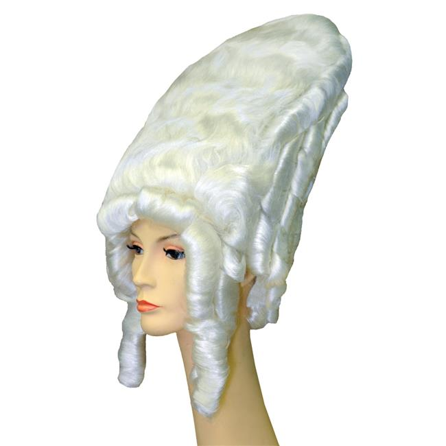 Morris LW168WT Madame De Pomp Regal White Wig Costume