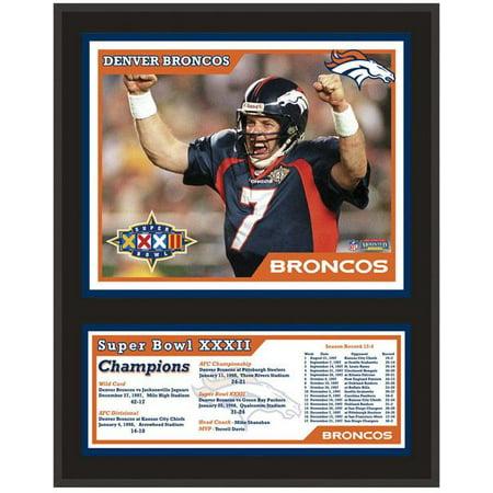 Denver Broncos Super Bowl XXXII Sublimated 12x15 Plaque - Broncos Birthday