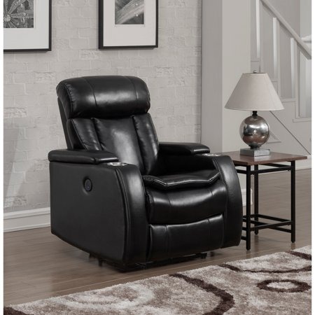 Prime Resources Black Power Recliner With Usb