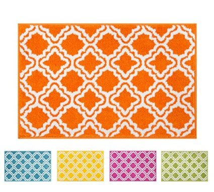 area rugs with orange accents geometric pattern area this button opens dialog that displays additional images for this product with the option to zoom in or out modern rug calipso orange 2 73