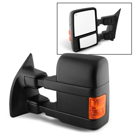 Fit 08-15 Ford F250 SuperDuty Power Heated Extendable Towing Mirror Driver Side - Extendable Towing Mirrors