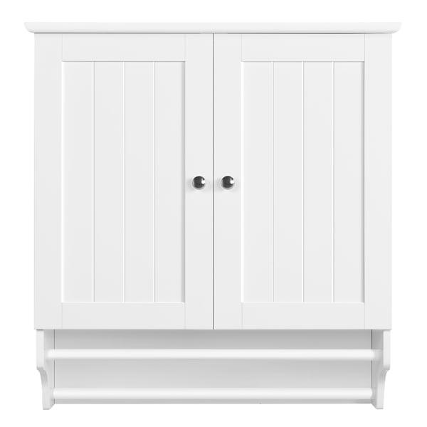 Smilemart 2 Door Bathroom Wall Cabinet Storage Shelf For Kitchen Walmart Com Walmart Com