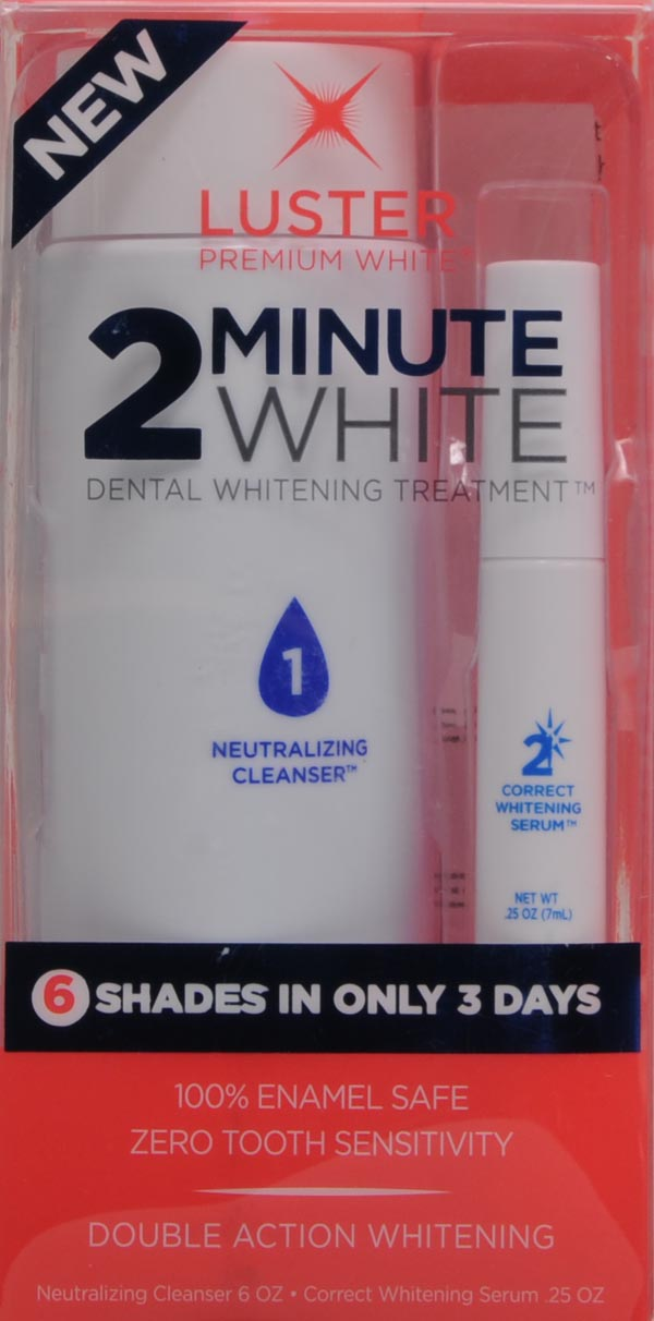 Teeth Whitening Double Action 2 Minute Whitening Treatment Kit By