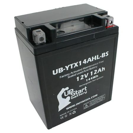 UB-YTX14AHL-BS Battery Replacement for 1983 Honda VF750S V45 Sabre 750 CC Motorcycle - Factory Activated, Maintenance Free, Motorcycle Battery - 12V, 12AH, UpStart Battery Brand 1983 Honda Sabre 750