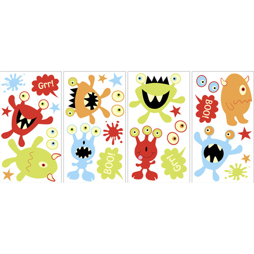 MyStyle Little Monsters Glow-in-the-Dark Wall Stickers by Generic