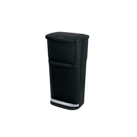 Rubbermaid Double Decker 2-in-1 Recycling Modular Bin with LinerLock ()