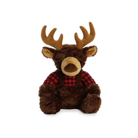 Aurora Aurora World Lumberjack Reindeer Novelty Stuffed Animals - Stuffed Reindeer