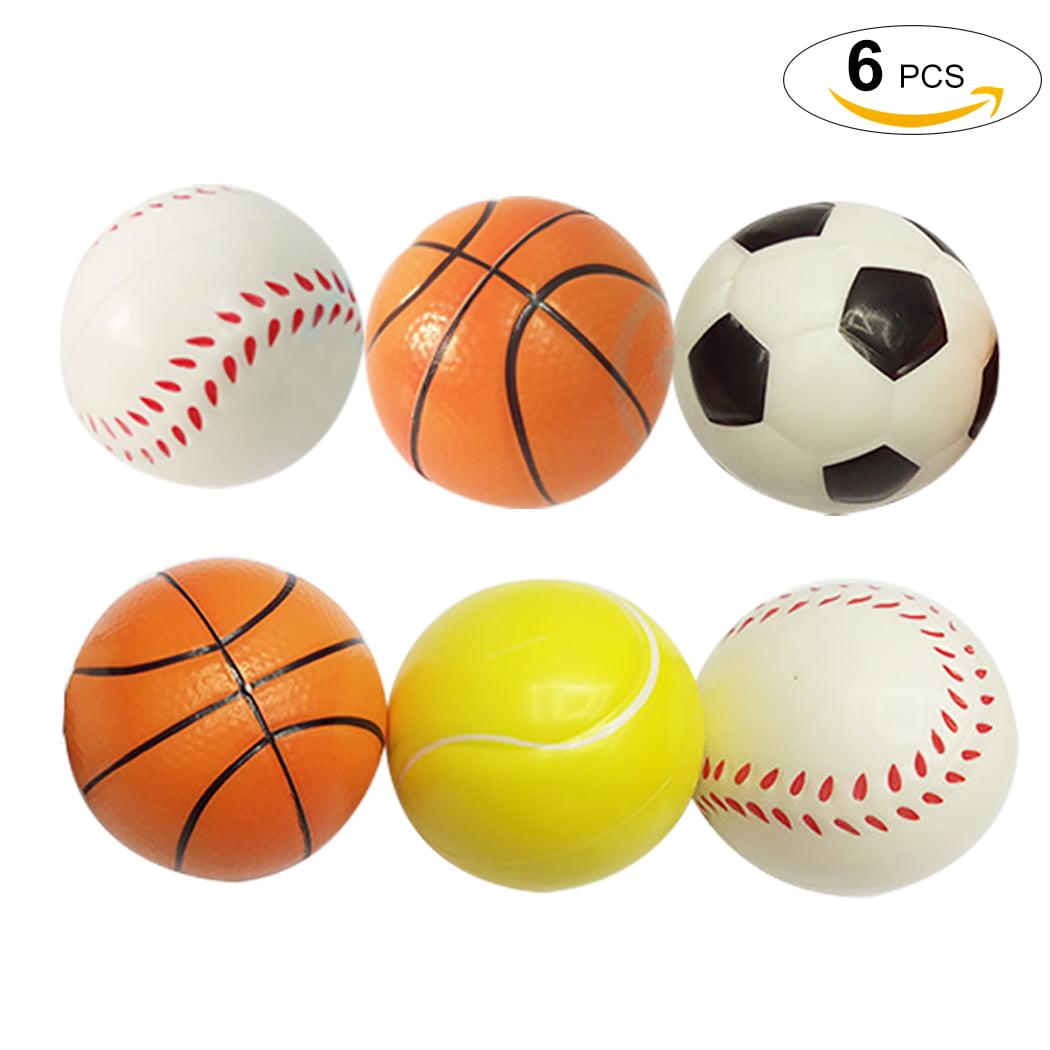 6Pcs 3.94'' Decompression Toy set, Coxeer Basketball Football Tennis Ball Baseball Fidget... by Coxeer
