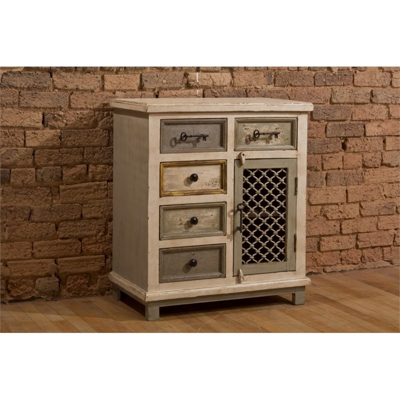 Hillsdale LaRose 5 Drawer Accent Chest in Dove Gray