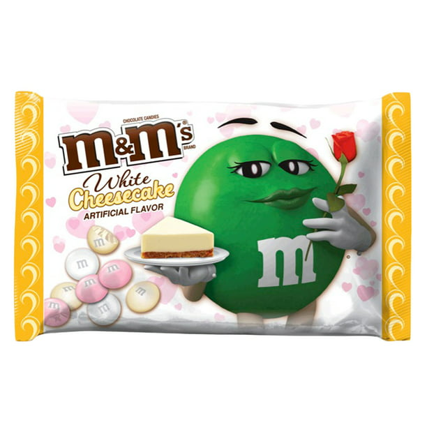 Mars M&M's Valentine's Day White Cheesecake Flavored Chocolate Candy, 8 Oz.