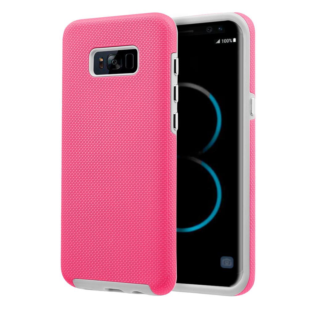 MUNDAZE Hot Pink EZPRESS Double Layered Case For Samsung Galaxy S8 Plus Phone