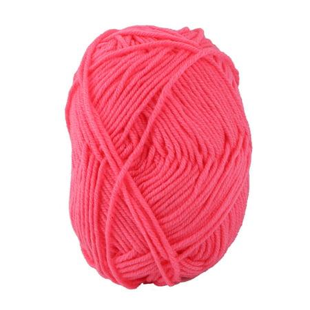 Home DIY Handicraft Winter Scarf Sweater Knitting Yarn Cord String Hot Pink - Hot Pink Scarf