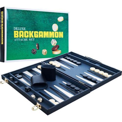 Trademark GamesT 12-3010M Trademark GamesT Deluxe Backgammon Attache Set