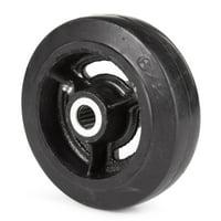 Wesco Cast Hub Moldon Rubber Wheel