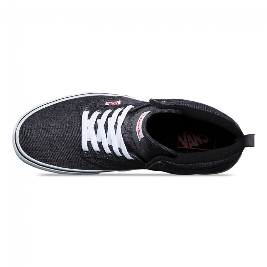 Vans Atwood Hi S18 Menswear Black/White Men's Classic Skate Shoes Size 13
