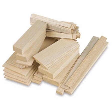 "Midwest Products Balsa Wood Strips - 5 Pieces, 1/8"" x 3/16"" x 36"""