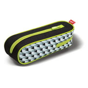 ZIPIT Davis Pencil Case, Black and Green