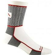 Darn Tough Vermont Men's Herringbone Micro Crew Ultra-Light Athletic Socks, White, Medium
