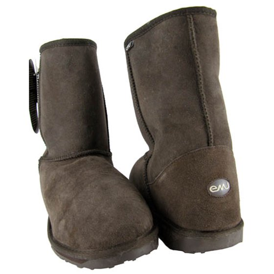 e91a4c3b55d Emu - Emu Stinger Mens Brown Boots Shoes Suede Sheepskin 12 ...