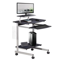 Techni Mobili Rolling Compact Computer Cart Desk w/Storage Deals