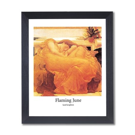 Flaming June Lady Sleeping Victorian Wall Picture Black Framed Art Print
