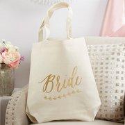 Gold Foil Bride Canvas Tote Bag