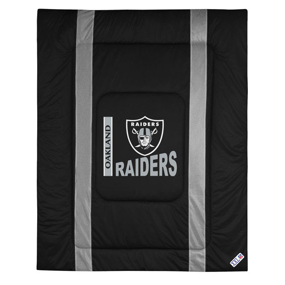Sports Coverage NFL Oakland Raiders Comforter Sidelines F...