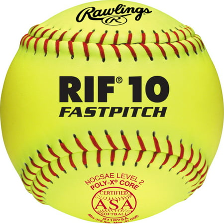 Rawlings ASA 11 inch Level 10 Firm Center Synthetic Cover Softballs
