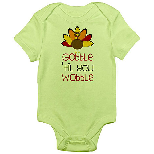 CafePress Newborn Baby Boy, Girl or Unisex Gobble Cute Thanksgiving Bodysuit