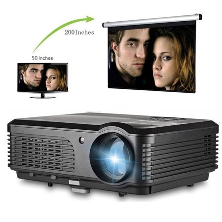 Gaming Projector  Hd Projector Home Theater Portable Lcd Led Projector 2000 Lumen Hd Home Theater With Hdmi Vga Av Usb Input