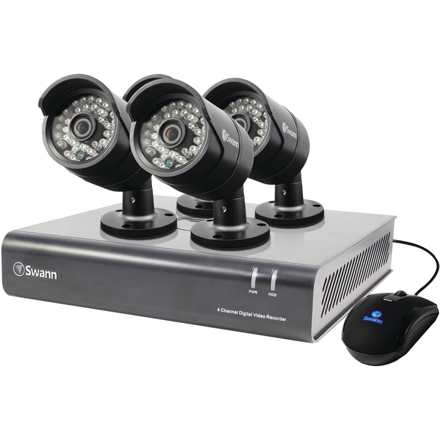 Swann Swdvk-444004-us 4-Channel 720p DVR with Four 720p PRO-A850 Cameras