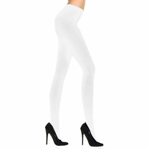 Semi sheer white pantyhose