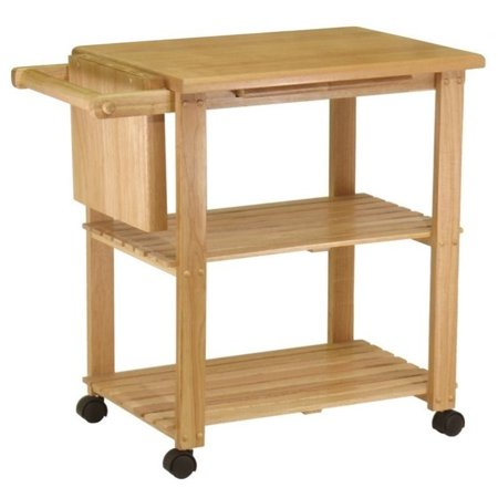 Pemberly Row Utility Butcher Block Kitchen Cart in (Butcher Block Kitchen)